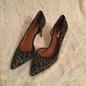 Halogen 9.5M Marlie Calf Hair Leopard Print Heels